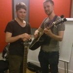 Outlaws Kept The View after their live session on Camden Roundhouse Radio 2013: Jake Munn - left. Tom Hunt - right.